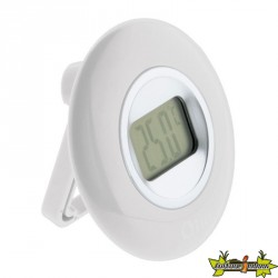 THERMOMETRE DIAMETRE 77mm A ECRAN LCD BLANC