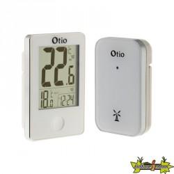 Thermomètre avec capteur extérieur sans fil Blanc - Otio