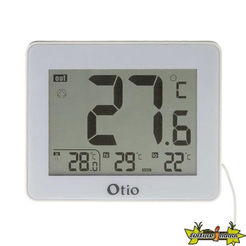 Thermomètre intérieur et extérieur avec sonde filaire Blanc - Otio ... 3d59ab1be4b9