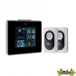 Centrale météo, ecran LCD couleur avec 2 Capteurs extérieur sans fil - Otio