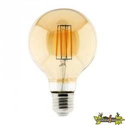 454903 AMPOULE LED FILAMENT AMBRÉE GLOBE 6W E27 720 LM