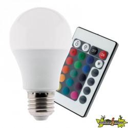 455001 AMPOULE LED 7.5W E27 RGB TELECOMMANDE