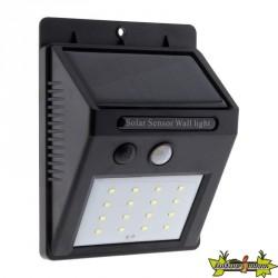 455131 APPLIQUE SOLAIRE LED A DETECTEUR DE MVT 240LM
