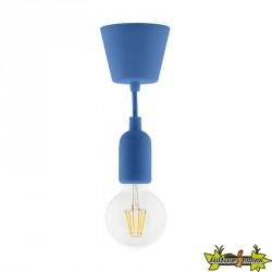 631003 KIT DE SUSPENSION DECO BLEU + GLOBE FILAMENT LED