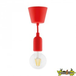 631002 KIT DE SUSPENSION DECO ROUGE + GLOBE FILAMENT LED