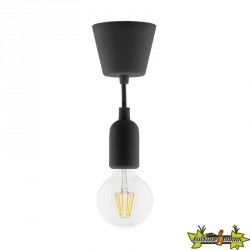 631001 KIT DE SUSPENSION DECO NOIR + GLOBE FILAMENT LED