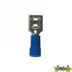 121758 10 CLIPS FEMELLES BLEUS 6.3MM