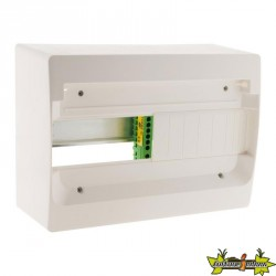 150145 COFFRET 13 MODULES BLANC RAIL METAL SANS PORTE