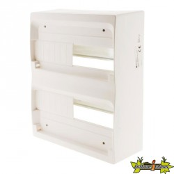 150147 COFFRET 26 MODULES BLANC RAIL METAL SANS PORTE