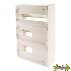 150148 COFFRET 36 MODULES BLANC RAIL METAL SANS PORTE