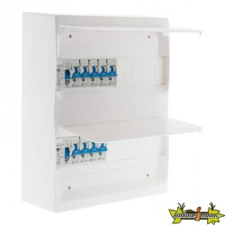 Coffret électrique T3 - 26 modules 9 disj + 2 interrupteurs diff + accessoires