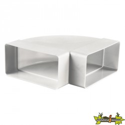 COUDE PVC HORIZONTAL 60MMX120MM