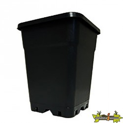 Pot carré - Noir - ø20cm - 7l