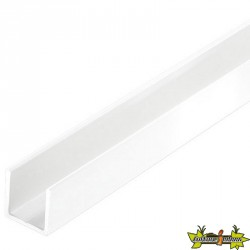 U CARRÉ 19,5X1,5 PVC BLANC 1M