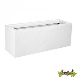 13748 BL.CER BALCONNIERE VOLCANIA UP 25L BLANC CERUSE 59X19.2X22.8CM