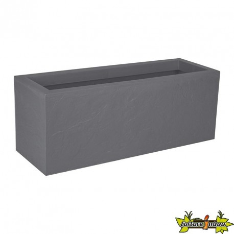 13756 G.GL JARDINIERE VOLCANIA UP 57L GRIS GALET 79.5X29.5X29.5CM