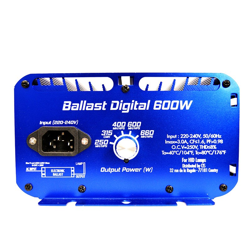 Superplant - Ballast digital HPS-MH-MHC with dimmer - 250W/600W