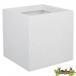 EDA - Pot carré Graphit Up - blanc cérusé - 21L