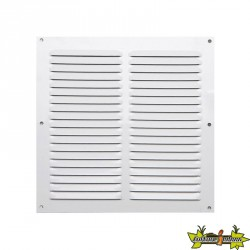 Winflex - Grille d'aération250mm aluminium blanc 2 rangées avec écran anti-insecte