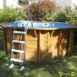Ubbink - Piscine octogonale Sunwater All-in-One ø360cm - liner bleu