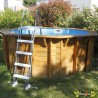 Ubbink - Piscine octogonale Sunwater All-in-One ø360cm - liner bleu