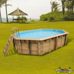 Ubbink - Piscine octogonale Sunwater 300x490cm - liner bleu