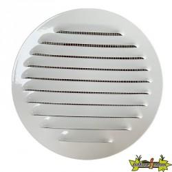 Winflex - Grille d'aération ronde ø150mm acier blanc avec écran anti-insecte