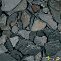 BLACK SLATE 15-30 MM -SCHISTE NOIR 20KGS