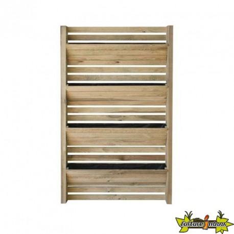 Mur végétal EDEN en bois/potager Vertical -séparation-cloture v&égétale  90x180CM - Géotextile inclus