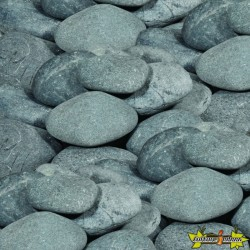 BEACH PEBBLES NOIR 12-15 CM ROND (NATUREL)-QUARTZITE NOIR 770KGS