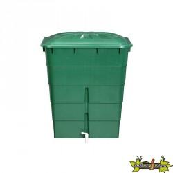 Graf - Cuve rectangulaire 300L verte avec couvercle et robinet