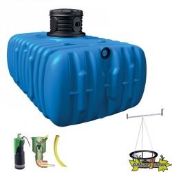 4Rain - Kit cuve jardin à enterrer Flat confort - 5000 L