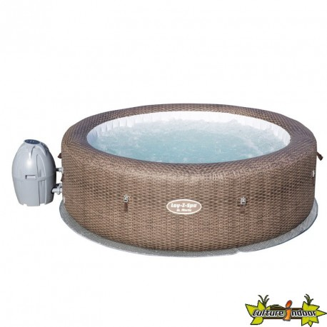 LAY-Z-SPA ROND - ST MORITZ/ RATTAN AIR JET GONFLABLE