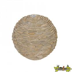 Trente sphère béton avec galets brun clair