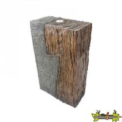 Ubbink - Cunéo cube look bois et pierre 150L
