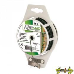 Ribiland - Lien plastique armé avec dévidoir 25m Ø 1mm