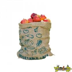 Sacs en jute pour le stockage de fruit et légume h49,5 X 45,7 cm - Nature