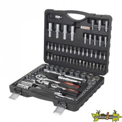 COFFRET CLES A DOUILLE PRO AU CHROME VANADIUM 94 PCS