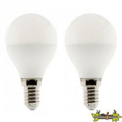 455221 LOT DE 2 AMPOULES LED STANDARD 10W E14 2700K 470LM