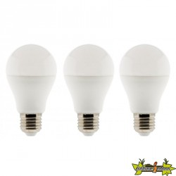 455223 LOT DE 3 AMPOULES LED STANDARD 10W E27- 2700K 810LM