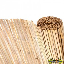Canisse en bambous naturels fendus 1 X 5 m Nature
