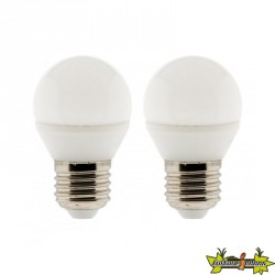 455016 LOT 2 AMPOULES LED SPHERE 5W E27 2700K 400LM