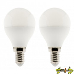 455017 LOT 2 AMPOULES LED SPHERE 5W E14 2700K 400LM