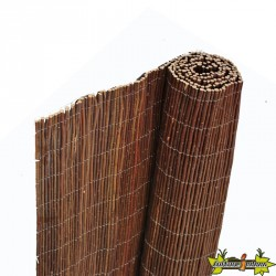 Canisse en osier naturel d'une épaisseur de plus ou moins 5 mm - 1 X 5 m - Nature