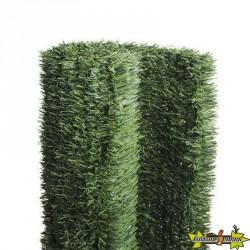 Haie artificelle ignifugée brins fins 150cm x 3m - Nature