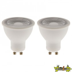 454580 LOT DE 2 REFLECTEURS LED 6W GU10 4000K 450LM
