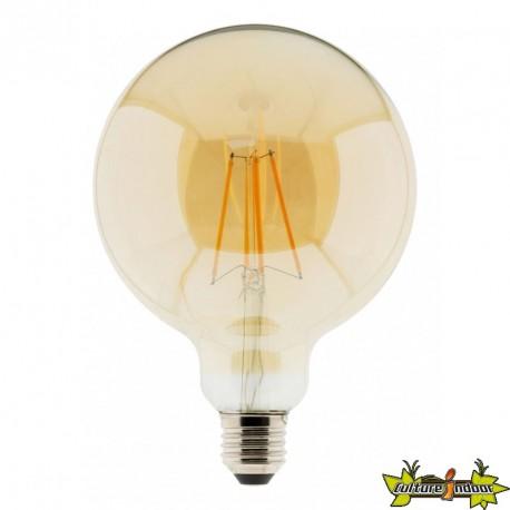 Elexity - Ampoule LED filament Globe ambré 125mm 7W E27 2500K 720lumens