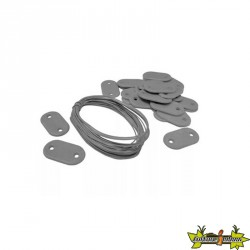 Nature - Set de fixation pour canisses plastique gris 26 attaches