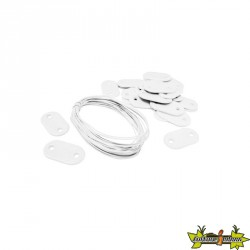 Nature - Set de fixation pour canisses plastique blanc 26 attaches