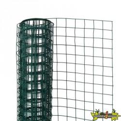 6050261 MAILLE CARREE ACIER GALVA PLASTIFIE VERT 13MM 0.5X5M